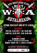 W:O.A: Blutspende Aktion (Flyer)