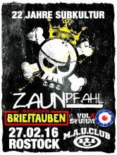 ZAUNPFAHL feiern 22 Jahre Subkultur; offizieller Flyer