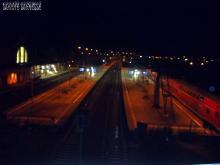 Hauptbahnhof Eberswalde. Endstation einer Geschichsstunde in Sachen Punk am Morgen des 3.10. 2.014.