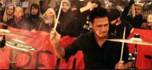 Schlagzeugaction mit Betontod Drummer Maik (Original-Videoszene)
